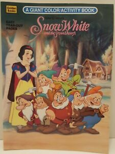 Vintage 1994 Disney Snow White and the Seven Dwarfs Coloring Activity Book...