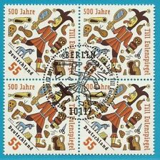 Bund aus 2011 gestempelt Viererblock MiNr.2880 - 500 Jahre Till Eulenspiegel!