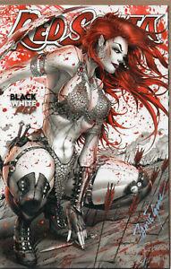 RED SONJA Black White Red #1 Ltd 150 Jamie Tyndall Signed Blood VARIANT 2021