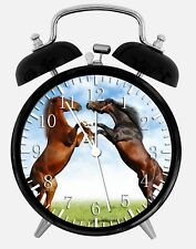 "Beautiful Horse Alarm Desk Clock 3.75"" Home or Office Decor Z120 Nice For Gift"
