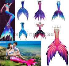 New Luxurious Women Mermaid Tail With Monofin Swimwear Vacation Cosplay Costumes