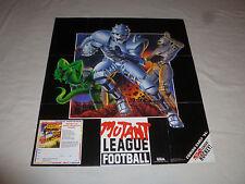 Vintage Sega Genesis Mutant League Football Game Promo Poster 17 X 22 1993