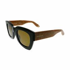 Givenchy GV 7061 0WM 70 Black Honey Plastic Square Sunglasses Brown Lens