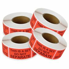 10 Rolls 5000 Lables 1x2 This Is a Set Do Not Separate Sticker FBA Warning Label