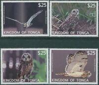 Tonga express 2012 SGE2-E5 Barn Owl set MNH