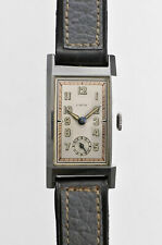 LACO Small Second Rectangular Case Manual Winding Vintage Watch 1940's OH