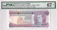 1986 Barbados 20 Dollars P-39 PMG 67 EPQ Superb Gem UNC