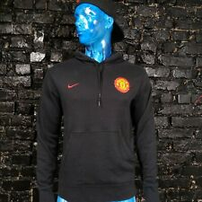 Manchester United The Red Devils Hoodie Black Nike 347310-010 Cotton Mens Size M