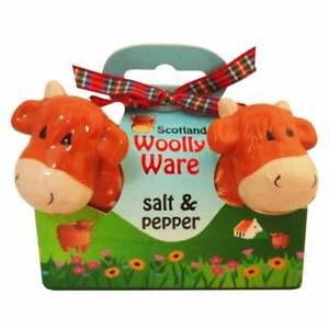 Islandcraft Highland Cow Salt & Pepper Set Woolly Ware CL-97-64