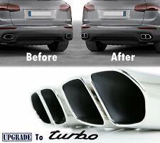 Turbo-Look Porsche Cayenne Exhaust Muffler Tips for 958.2 V6 Base 2015-17 Chrome