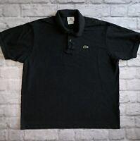 Mens CHARCOAL Lacoste Polo Size XXL 2X 7 Item 87651 100% Cotton 2 Button