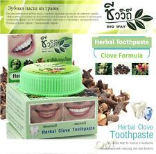 Herbal Clove Toothpaste Bio Way 25g Whitening Teeth Green Thai Herb Fresh Breath