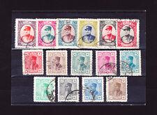 LOT #9  Iran RARE REZA SHAH 15 single used stamp set Pahlavi Book Value $75