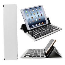 Alu Faltbare Bluetooth Tastatur APPLE  iPad Min Kabellos Tablet IOS - F18 Silber