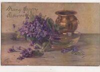 Birthday Greetings 1929 Embossed Tuck Oilette 3365 N Beraud Postcard US076