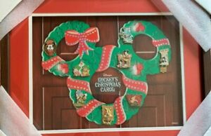 Disney Mickey's Christmas Carol Mickey Scrooge Goofy Framed LE 200 Pin Set