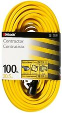 Southwire Extension Cord 100 ft. 12-Gauge Resists Moisture Abrasion Clip Storage