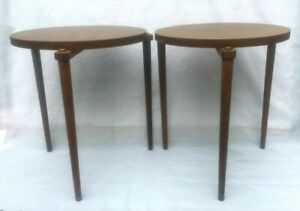 Mid-Century Modern Nesting Stacking Tables Side Table Atomic MCM 1960's Vintage