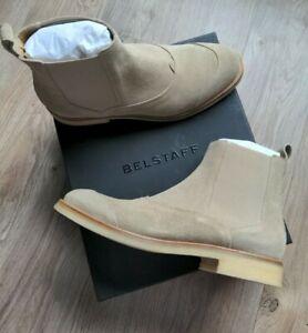 Belstaff Ladbroke Chelsea Boots Mens 10 EU 43 Gum Crepe Sole Taupe Tan $550