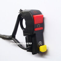 Electric Start Starter Stop On/Off Kill Switch Pit Dirt Motorcycle ATV Quad Bike