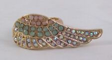 Gorgeous New Angel Wing Stretch Ring With Crystals #R1139