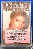 Dionne Warwick Greatest Hits 1979 - 1990 12 track CASSETTE TAPE NEW!