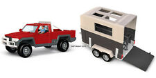 *NEW* SCHLEICH 42090 Pick Up Car with Driver & 42091 Horse Box Float Trailer