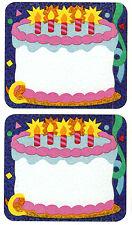 Sandylion Vintage Birthday Cake Name Tag Stickers Super Rare Lot of 10 RETIRED