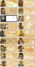 60 Japanese Cartoon One Piece pics personalised name label (Large size)
