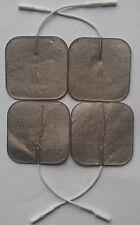 Premium Silver Tens Electrodos almohadillas 4 Plaza altamente Adhesivo decenas almohadillas