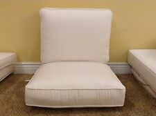 2 pc Frontgate ENCORE Outdoor Lounge White Cushion Patio Club Chair 26x23 NEW