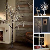 Pre-lit Christmas / Easter Twig Tree Led Rustic Xmas Snowy Decoration