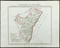 1802 - Antique Map Department Bas-Rhin of Chanlaire. France