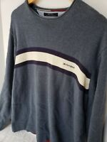 Vintage 90s Tommy Hilfiger Knit Sweater Pullover Logo Spell Out Mens Large Y2K