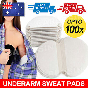 100pcs Summer Armpit Sweat Pads Stickers Underarm Guard Absorbing Disposable
