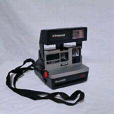 Vintage Polaroid Sun 600 Sun600 LMS Instant Film Camera 1980s 80's Rainbow Logo