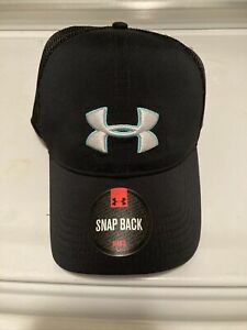 NEW Under Armour Mens Classic Mesh Snap Back Cap-Black