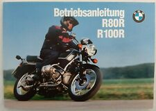 BMW R80R R100R Betriebsanleitung - Betsell-Nr 01409799070 - Excellent condition