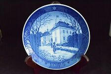 Vintage, collector plate from Denmark, 1975, The Queen's Residence at Christmas