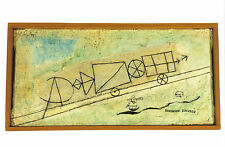 Arte tarjeta postal-Paul trébol: tren de montaña