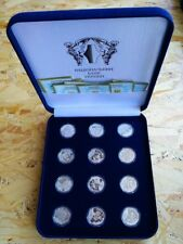 Set All 12 Coins Child Zodiac Ukraine 2014-2015 Silver 1/4 Oz 2 UAH Special Box