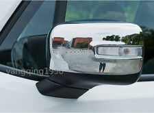 FOR 2015 2016 2017 Jeep Renegade Chrome Side Door Mirror Rearview Cover Trim 2pc