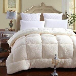 Winter Duvets Comforter Camel Lamb Wool Warm Quilt Thick Blanket King Queen Size