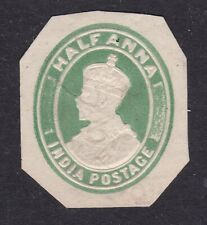 India 1/2Anna George V Postal Stationary Cut Out VGC