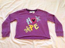 "Girl's Extremely Me! ""HOPE"" Long Sleeve Purple Sweatshirt, Size 7/8"