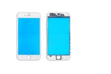 iPhone 6 LCD Display Front Glas mit Rahmen / Frame vormontiert weiss