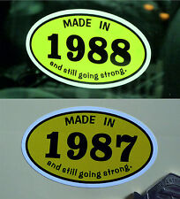 MADE IN 1980s *1987* Classic Car Vintage Bike Helmet STICKER All Years Available
