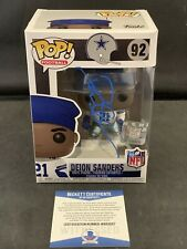 Deion Sanders Signed Autographed Funko Pop Dallas Cowboys Beckett COA