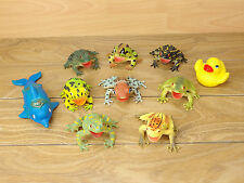 Hollow Frog Toad Dolphin Duck Figure x10