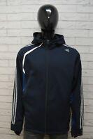 Felpa Uomo ADIDAS Taglia Size XL Pullover Maglia Cardigan Blu Sweater Man Sport